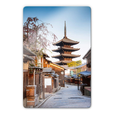 Glasbild Colombo - Yasaka Pagode in Japan