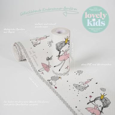 Lovely Kids selbstklebende Kinderzimmer Bordüre Magic Princess für`s Prinzessinen-Zimmer