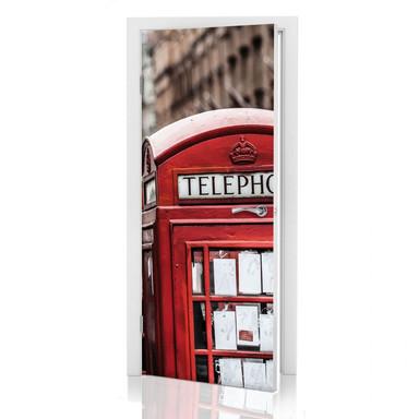 Türdeko Britische Telefonzelle