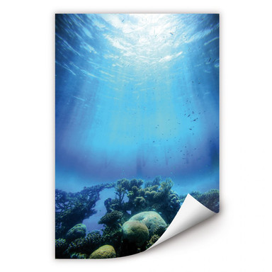 Wallprint Deep Blue