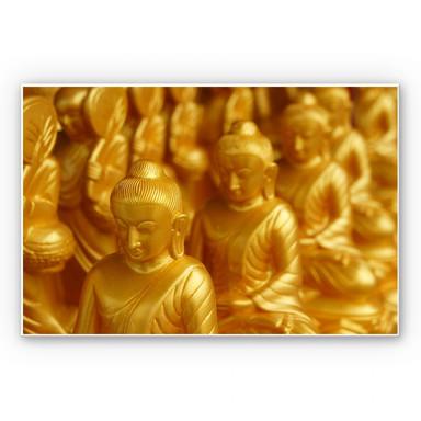 Wandbild Golden Buddha