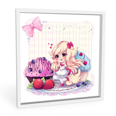 Wandbild La Doll Blanche - Chibi Belle