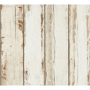 A.S. Création Vliestapete il Decoro Tapete in Vintage Holz Optik braun, creme, schwarz