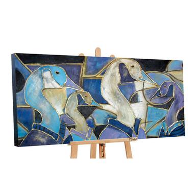 Acryl Gemälde handgemalt Glasmalerei 140x70cm
