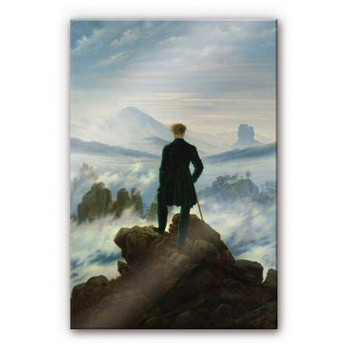 Acrylglasbild Friedrich - Der Wanderer über dem Nebelmeer