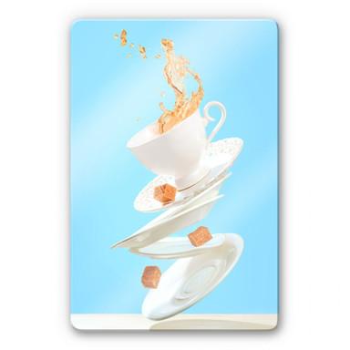 Glasbild Belenko - Dancing Coffee