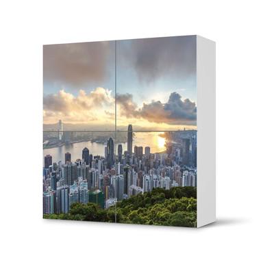 Klebefolie IKEA Besta Schrank 4 Türen - Hong Kong- Bild 1