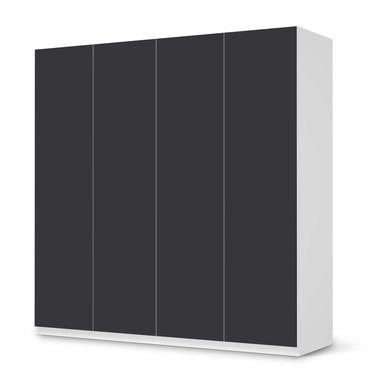 Klebefolie IKEA Pax Schrank 201cm Höhe - 4 Türen - Grau Dark- Bild 1
