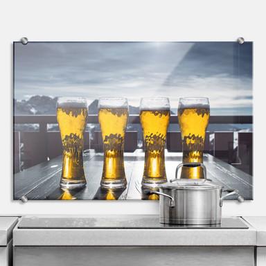 Küchenrückwand Eiskaltes Bier