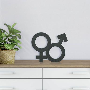 MDF-Holzdeko Gender-Symbol Hetero