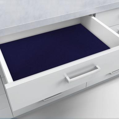 Velour-Folie blau - selbstklebend - Bild 1