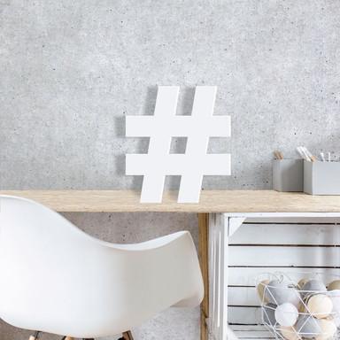 3D-Zeichen Hashtag