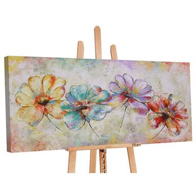 Acryl Gemälde handgemalt Schöne Blumen 140x70cm - Bild 1