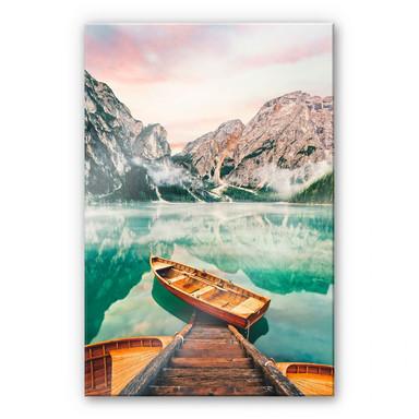 Acrylglasbild Lago die Braies