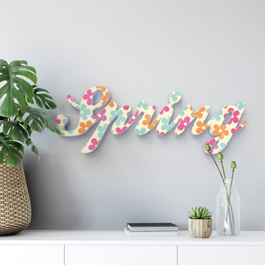 Dekobuchstaben 3D Spring farbig