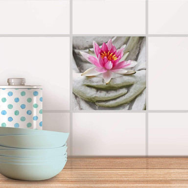 Fliesenaufkleber - Flower Buddha