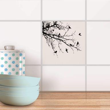 Fliesenaufkleber - Tree and Birds 1