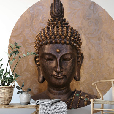 Fototapete Buddha der Weise - Rund