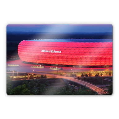 Glasbild FC Bayern Allianz Arena