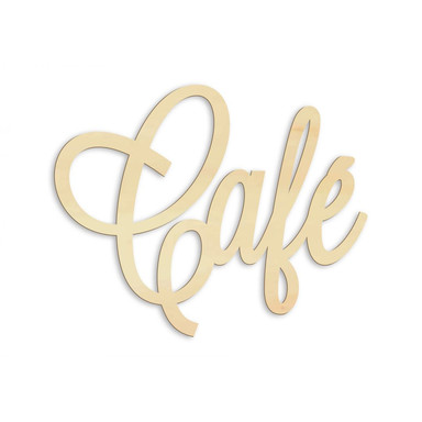 Holzbuchstaben Café - Pappel