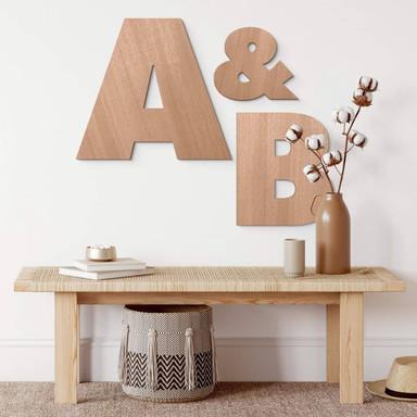 Holzbuchstaben Mahagoni - Einzelbuchstaben Futura