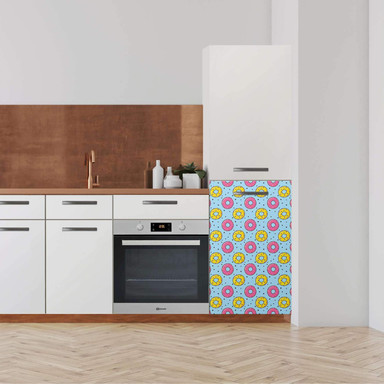 Klebefolie - Hochschrank (60x100cm) - Donutparty- Bild 1