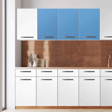 Klebefolie - Wandschrank 120cm Breite - Blau Light
