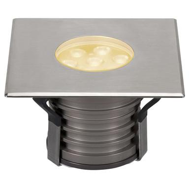 LED Bodeneinbaustrahler Dasar Premium, 148 mmx148 mm, IP67. eckig, Edelstahl 316. Aluminium, 60°