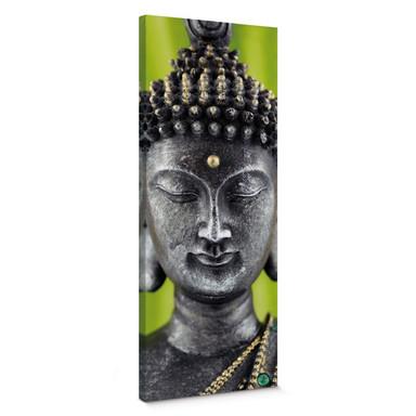 Leinwandbild Green Buddha - Panorama