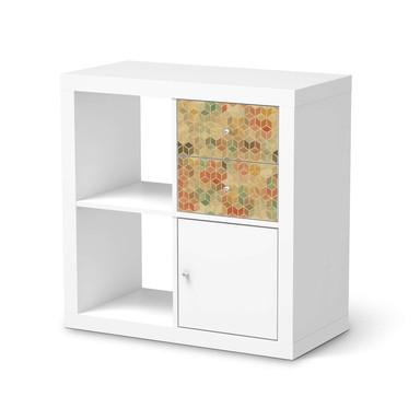 Möbelfolie IKEA Kallax Regal Schubladen - 3D Retro