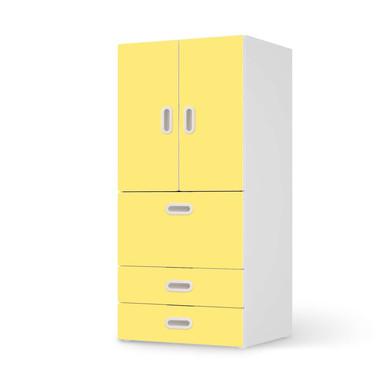 Möbelfolie IKEA Stuva / Fritids - 3 Schubladen und 2 kleinen Türen - Gelb Light