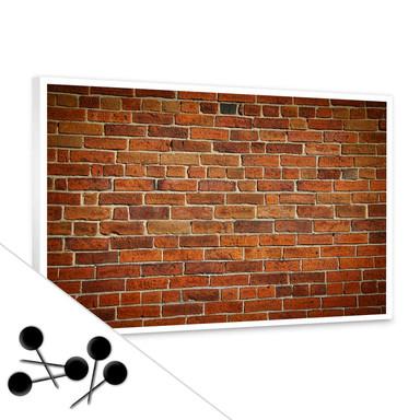 Pinwand Ziegelsteinmauer inkl. 5 Pinnadeln