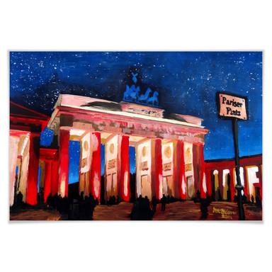 Poster Bleichner - Berlin unterm Sternenhimmel