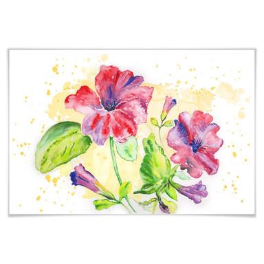 Poster Toetzke - Leuchtender Blütenkelch
