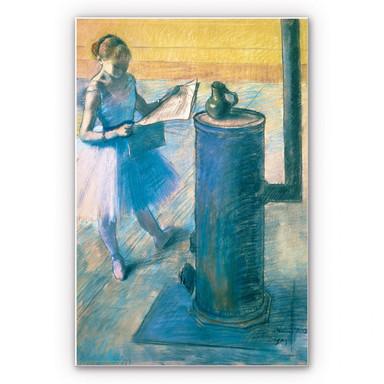 Wandbild Degas - Zeitunglesende Tänzerin