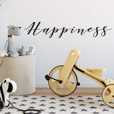 Wandtattoo Happiness