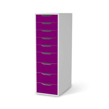 Folie IKEA Alex 9 Schubladen - Flieder Dark- Bild 1