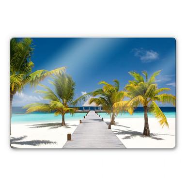 Glasbild Der Weg ins Paradies