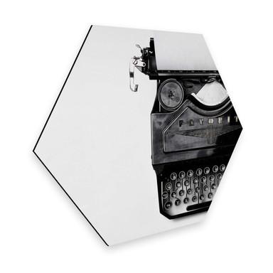 Hexagon - Alu-Dibond - Typewriter