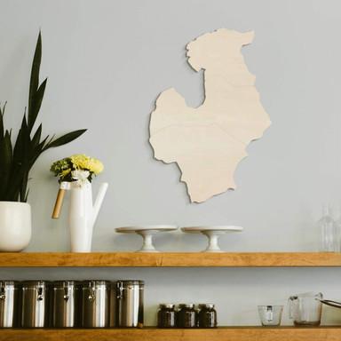Holzdeko Pappel - Karte Baltikum