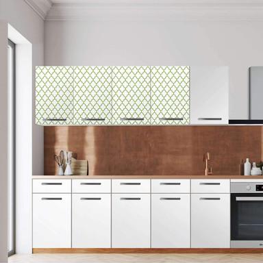 Klebefolie - Wandschrank 160cm Breite - Retro Pattern - Grün