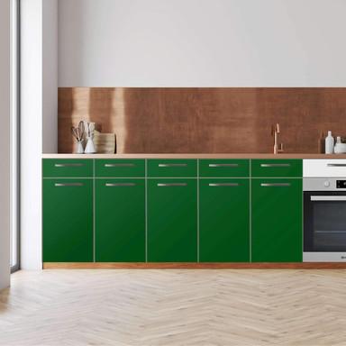 Küchenfolie - Unterschrank 200cm Breite - Grün Dark