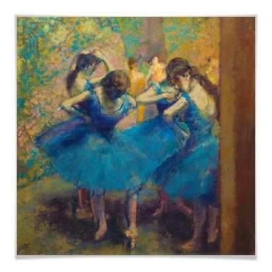 Poster Degas - Die blauen Tänzerinnen