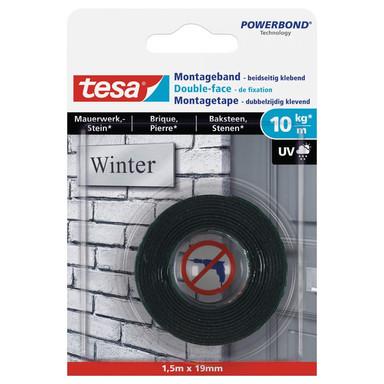 tesa® Montageband für Mauerwerk und Stein (10kg/m) 1.5 m x 19 mm - Bild 1