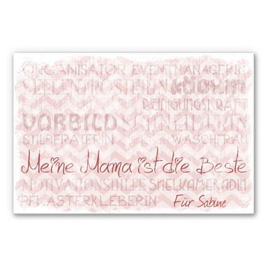 Wandbild & Wunschtext Meine Mama ist die Beste