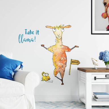 Wandtattoo Hagenmeyer - Take it llama