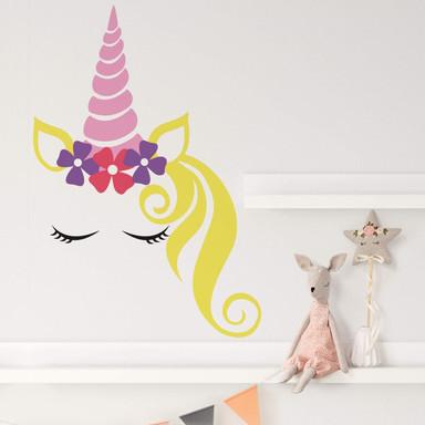 Wandtattoo Lady Unicorn