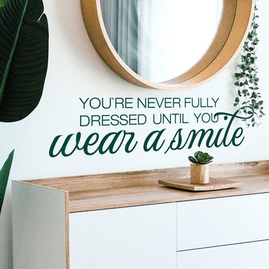 Wandtattoo Wear a smile