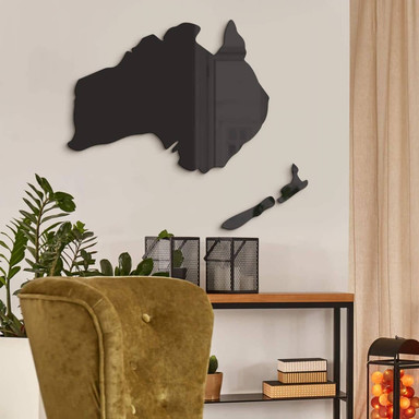 Acryldeko Karte Australien - Neuseeland