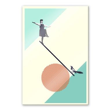 Acrylglasbild Léon - B is for Balance